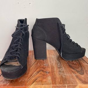 H&M lace up casual booties